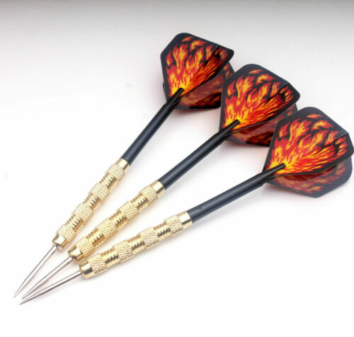 18pcs 6 sets of Steel Tip Darts Slim Barrel With Nice Dart Flights Sport Gifts