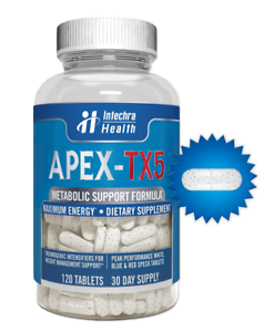 Details About Apex Tx5 Fat Burning Weight Loss Diet Pills That Work 120 White Blue Tablets