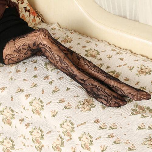 One Size Floral Pattern Jacquard Ladies Fishnet Pantyhose Fraue Tights Stockings