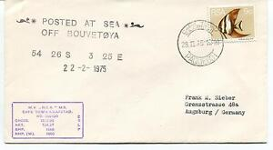 1975 Posted At Sea Off Bouvetoya Mv Rsa Cape Town Kaapstad Polar Antarctic Cover ProcéDéS De Teinture Minutieux