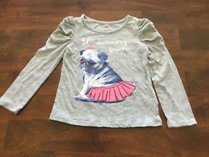 Okie-Dokie-girls-3T-pug-long-sleeved-shirt