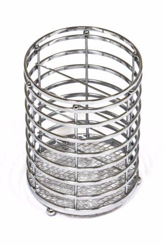 Chromed Steel Utensil Cutlery Holder Stand Drainer Dryer Basket  RRP $22.50