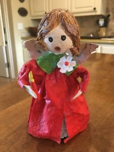 Vintage-PAPER-MACHE-Christmas-Caroler-Topper-6-5-in