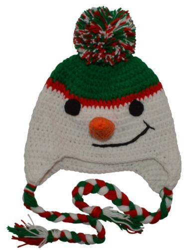 3 Months to 7 Years Little Kid/'s Snowman Hat White//Green//Red