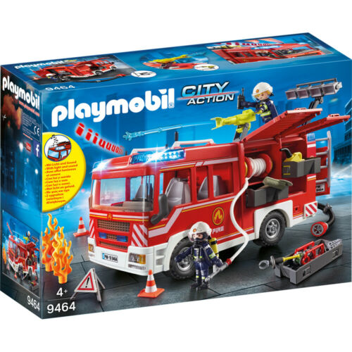 Playmobil 9464 City Action Fire Engine Projectile Toy Water Cannon /& Figures