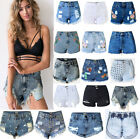 Womens Ladies Ripped Hot Denim Pants High Waisted Shorts Jeans Hot Beach Pants