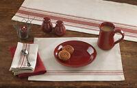 (2) Farm House Country Cottage Cotton Table Placemats 14x19 Home Decor