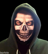 GRIM REAPER FACE HALLOWEEN NOVELTY LYCRA FABRIC MASK SNOOD FANCY DRESS DESIGN 2