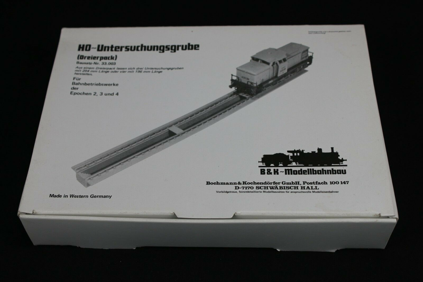 W388 bochmann kochendorfe ho tren 33.003 untersuchunggrube driepack
