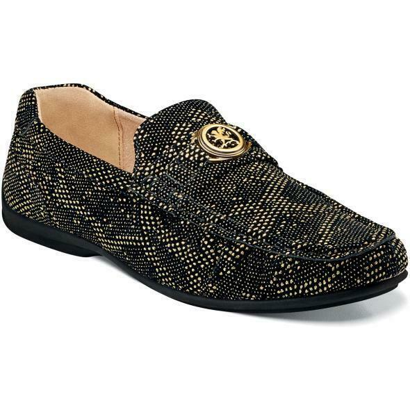 Stacy Adams Men's shoes Cypher Slip On Black and gold 25263-715