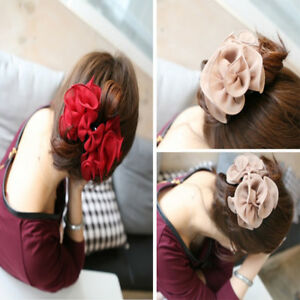 Large-Rose-Flower-Hair-Clips-Hair-Claw-clip-clamp-Bow-Jaw-Clips-Barrette-Decor