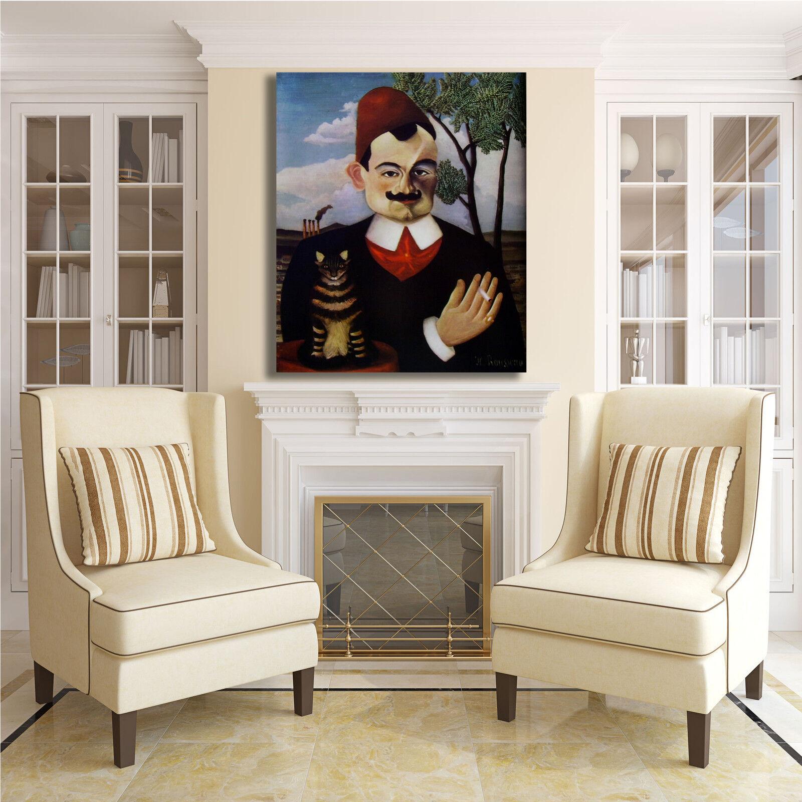 Rousseau Loti ritratto di Pierre Loti Rousseau quadro stampa tela dipinto telaio arRouge o casa bf05cf