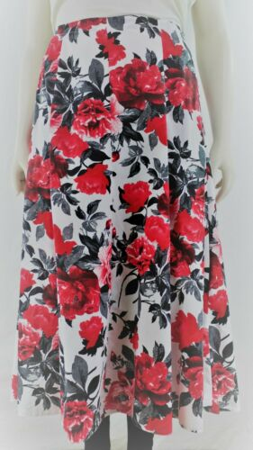 14-32 Women`s Long skirt back elasticated waist floral prints.Plus sizes