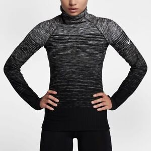 3413eb913 Nike Pro HyperWarm Womens Long Sleeve Top Pullover XS S L XL Black ...