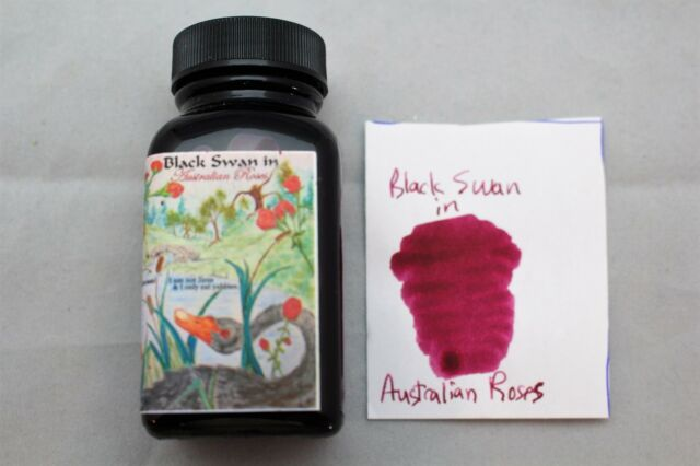 NOODLERS INK 3 OZ BOTTLE  BLACK SWAN IN AUSTRALIAN ROSES