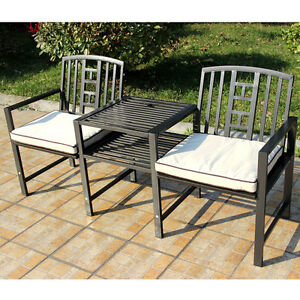 Image Is Loading Outdoor Garden Furniture Steel 165cm Companion Seat Love