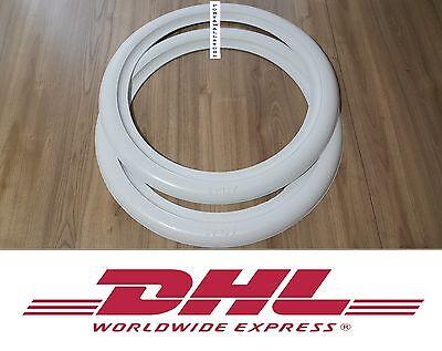 ATLAS Two pcs white wall Portawall trim 12/'/' wheels 2pcs inserts #2