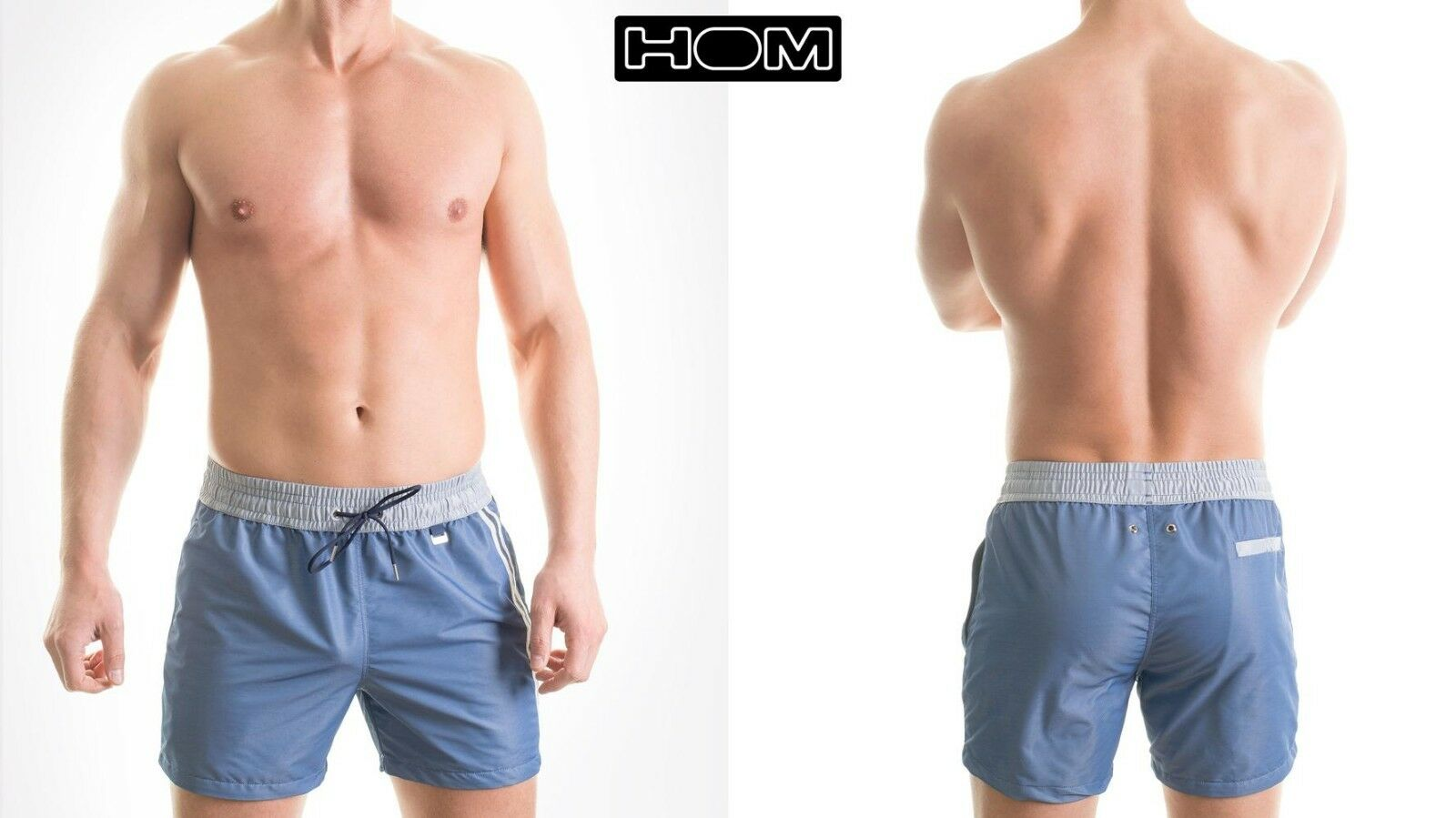 669f6984d0f2e HOM Jeans pool sexy swimming patterned lined shorts sun summer trunk ...