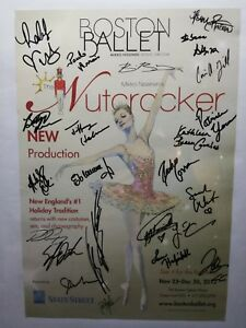BOSTON-BALLET-Mikko-Nissinen-039-s-NUTCRACKER-Poster-034-23-Dancers-Signed-034-Nov-Dec-2012