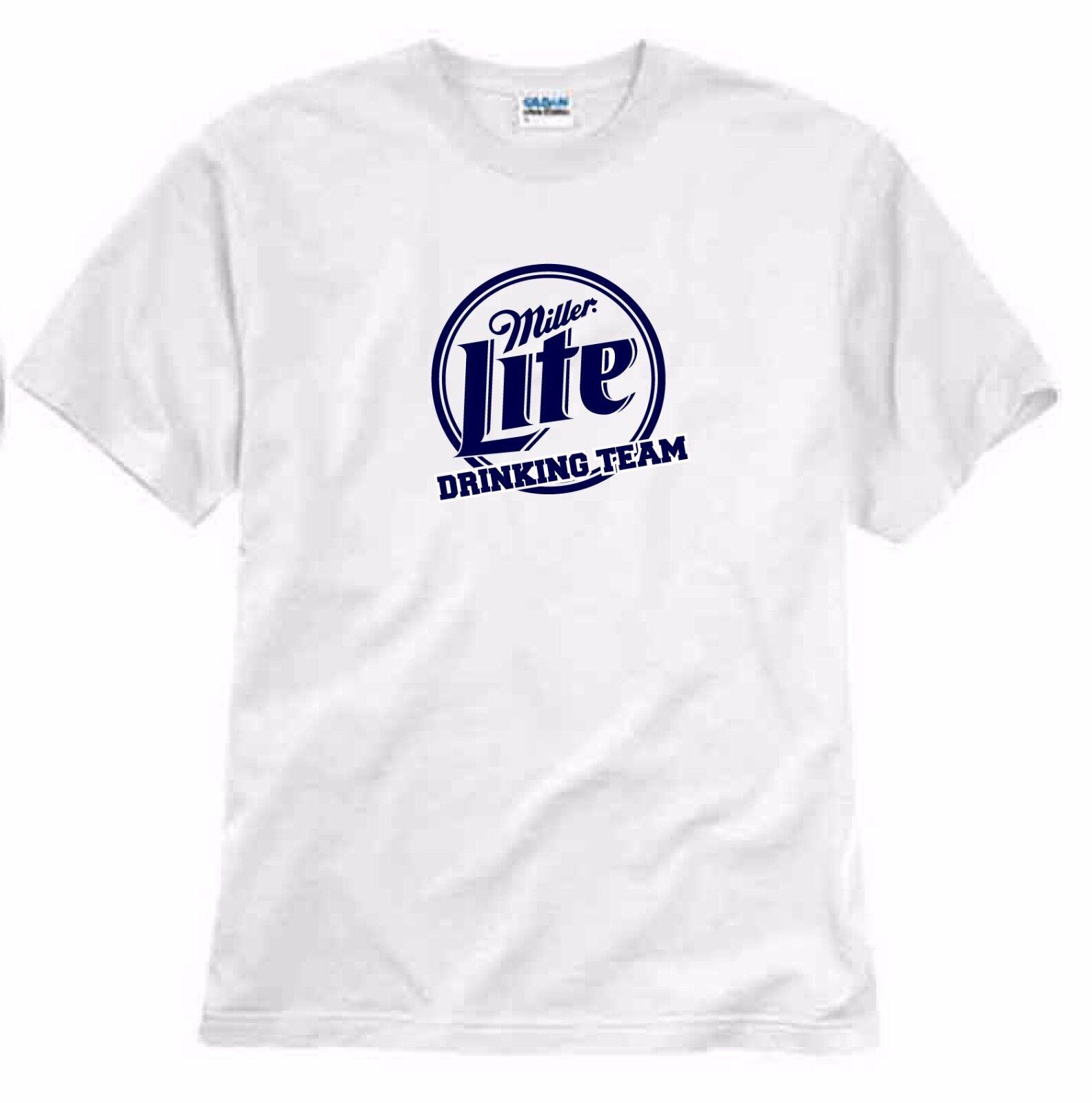 Miller Lite Beer Black Short Sleeve T-shirt