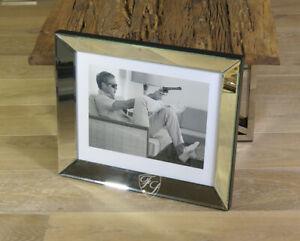 Wandbild-Steve-Mcqueen-Kunstdruck-Spiegel-Rahmen-Sofa-Pistole-Poster-Kunstdruck
