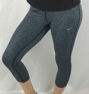 5ea9f96406 Details about NIKE Relay Womens Capri Leggings Pants Dri-Fit Gray Reptile  Print 811458 Size XS