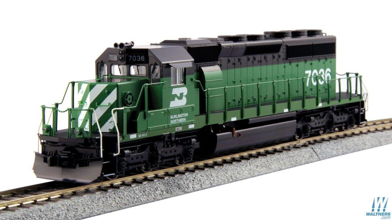 Escala HO-Kato 37-6604 Burlington Northern SD40-2 Loco  7036 DCC compatible