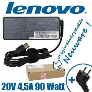 Lenovo-Netzteil-20V-4-5A-90-Watt-45N0499-eckiger-Stecker-fuer-ThinkPad-IdeaPad