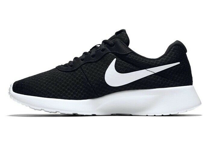 Junior Nike Tanjun Black White Running Sports Casual Lace Up Light Trainers