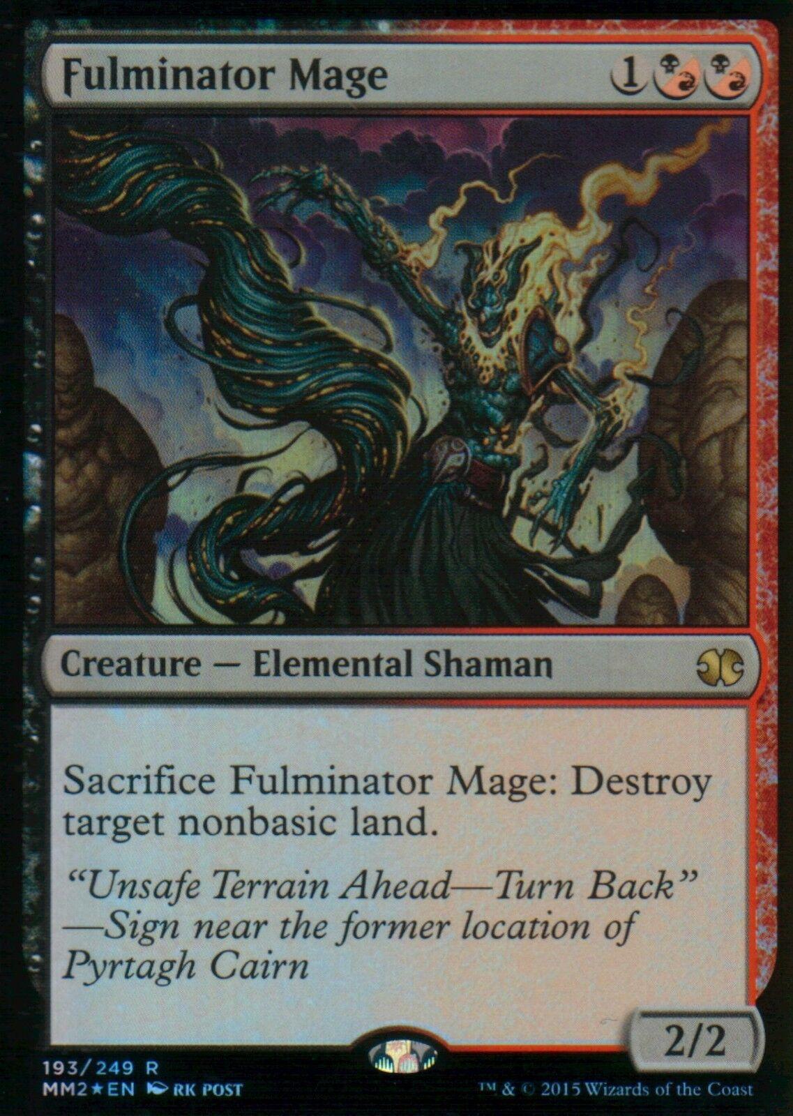 Fulminator Mage Foil   NM   Modern Masters 2015   Magic MTG