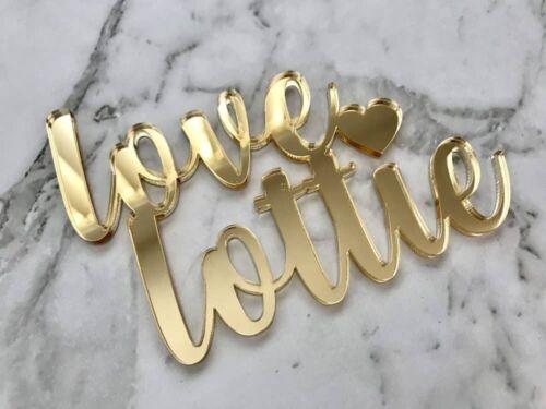 Custom Mr /& Mrs Name Wedding Cake Topper