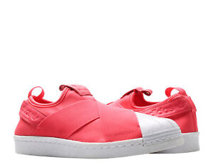 Details about Adidas Superstar Slip-On Coral Pink/White Women's Casual Shoes BB2118