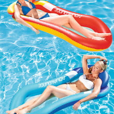 Inflatable Water Hammock Floating Bed Lounge Chair Drifter Swimming Pool Beach Float for Adult Eishi Hammock Inflatable Pool Float Multi-Purpose Pool Hammock