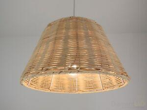Dettagli su lampadario classico rustico country paralume in vimini camera  da letto cucina