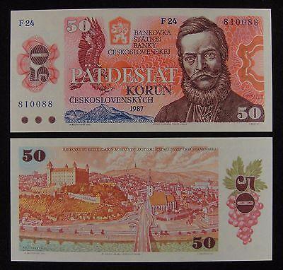 Czechoslovakia 50 Korun p-96a 1987 UNC Banknote