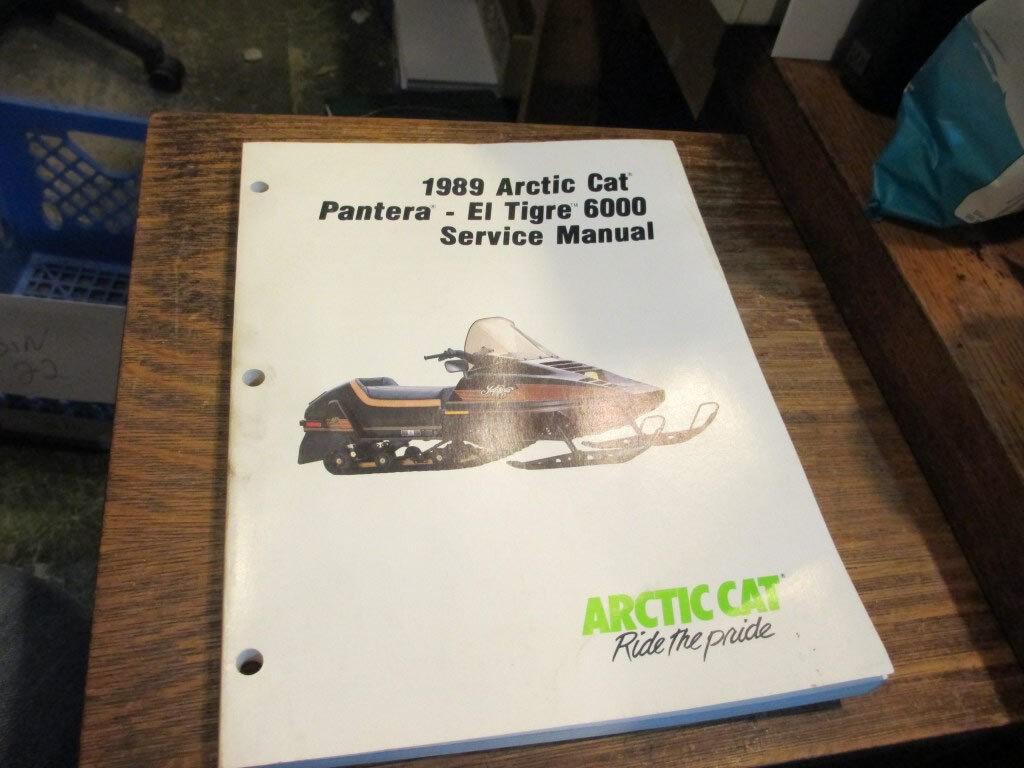 Arctic Cat 1989 Pantera Et Tigre 6000 Factory Snowmobile Service Manual 2254-497