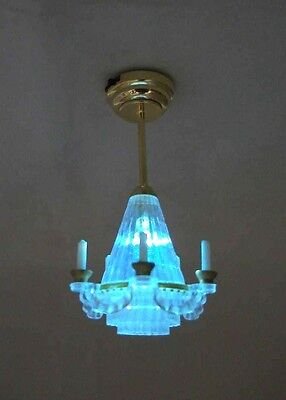 Light - LED Chandelier Lamp 2314 replaceable battery dollhouse 1/12 scale