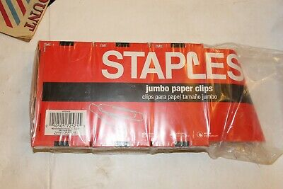 Lot of 2 Boxes of 100 Jumbo Paper Clips Smooth Steel Finish 200 Total US Ship