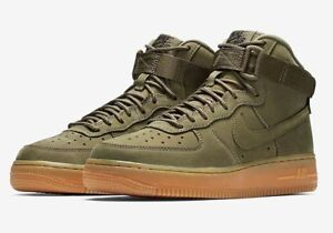 Details about Nike Air Force 1 High WB GS 922066 202 Medium Olive Gum Brown UK 5.5 EUR 38.5