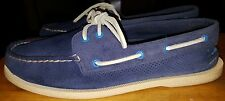 Sperry Top Siders deck shoes for men size 11-M blue rawhide laces nice