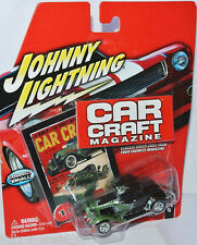 Car Craft Magazine - 1932 FORD COUPE - black/green - 1:64 Johnny Lightning