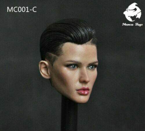 """1//6 MC001-C Ruby Rose Bodyguard Head Sculpt Carved Fit 12/"""" Girl Action Figure"""