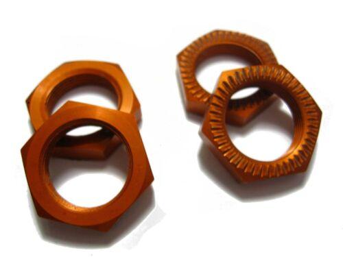 5T SS in Orange 4 STÜCK Radmuttern 24mm für HPI BAJA 5B