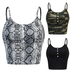 Womens-Summer-Sleeveless-Button-Up-Camouflage-Print-Casual-Vest-Cami-Tank-Top-W