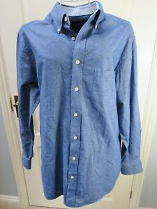CHARLES-TYRWHITT-Weekend-Blue-Denim-Shirt-Size-M-Classic-Fit-IMMACULATE-Chambray