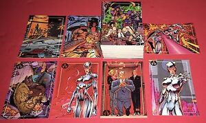 1993-Topps-Wildcats-100-Card-Trading-Set-Art-By-Jim-Lee-Nr-Mt-Mt