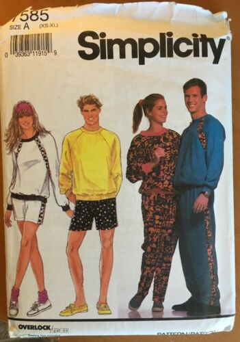 Unisex Active Wear Sewing Patterns Sold Individually