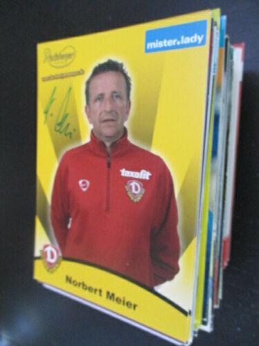90597 Norbert Meier Dynamo Dresden DFB original signiert Autogramm Karte