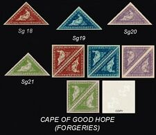 Cape of Good Hope Sg18,19,20,21 (forgeries)