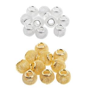 10-Stueck-Aushoehlen-Metallperlen-Spacer-Perlen-Zwischenperlen-Fuer-Schmuck
